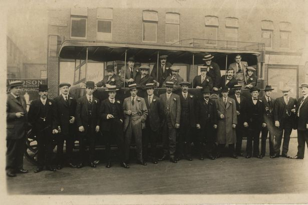 Notorious Birmingham gangster Billy Kimber, back row second from right, pictured with a London gang in the 1920s