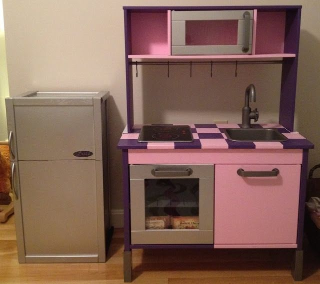 Duktig Kitchen Goes From Bland To Bling Minus The Colors This Is A Great Idea With Fridge Add