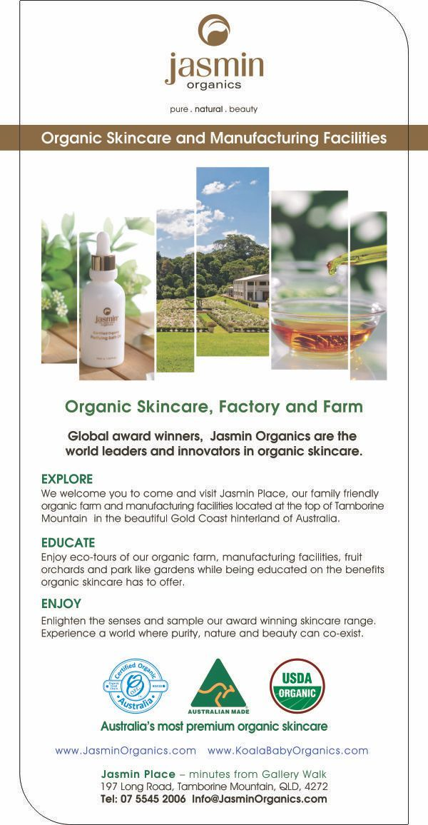 Nestled deep in the heart of Mount Tamborine's spectacular rain forests, Jasmin Organics established a home to bring their vision to life: to create the world's purest and highest-quality certified organic skincare range. Organic skincare became a reality in 2002 when a full natural range was developed, closely followed by organic certification and the expansion of Jasmin Organics to become one of the world's select certified organic farms and manufacturing facilities.