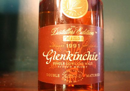 Glenkinchie 1991 Distillers Edition, one of GAYOT's Top 10 Single Malt Scotch picks, is a full-bodied malt with a hint of floral on the nose and on the palate