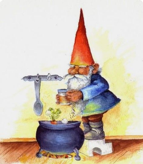 48 best I ❤ Gnomes images on Pinterest Gnomes, Elves and Faeries - gardine für küche