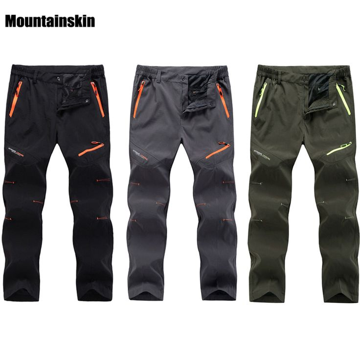 Spring Summer Quick Dry Cool Long Pants Breathable Sports Pant Men Plus Size Outdoor Hiking Camping Fishing Trousers 2017 RM098