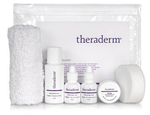 Theraderm Skin Renewal Travel System w/Enriched Moisturizer by Theraderm. $20.00. Powerful - Antioxidants defend against free-radical damage. Simple - Four-step system. Gentle - Ideal for skin of all ages. Uncomplicated Skincare. The Theraderm Skin Renewal Travel System is comprised of four products that work harmoniously to produce a healthy, luminous appearance no matter your age.  Rooted firmly in bioscience and clinically tested, each product is comprised of in...