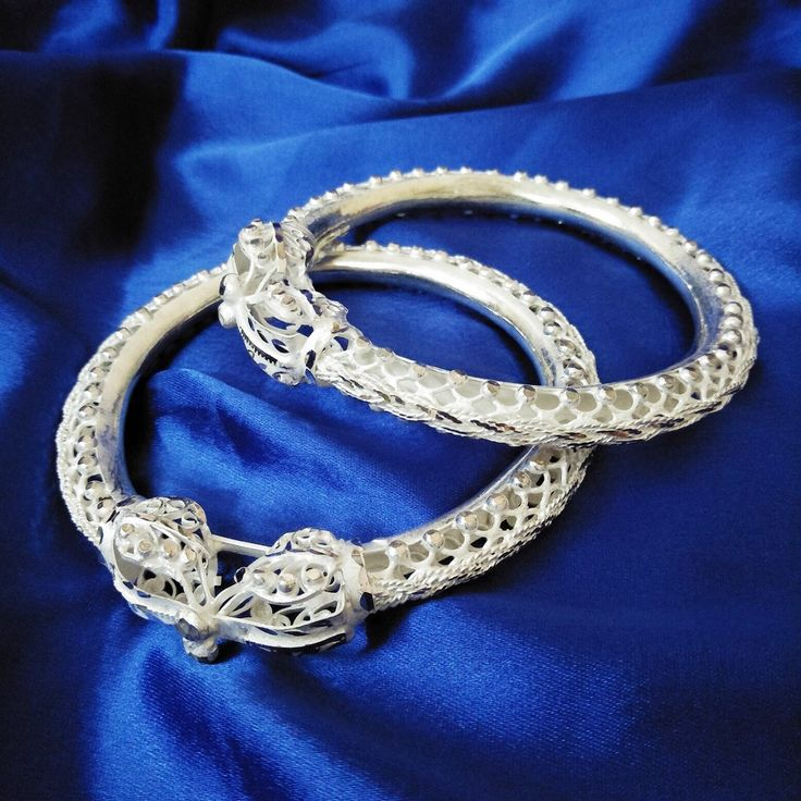 Handmade Silver Filigree Kangans from Cuttack by Silver Linings