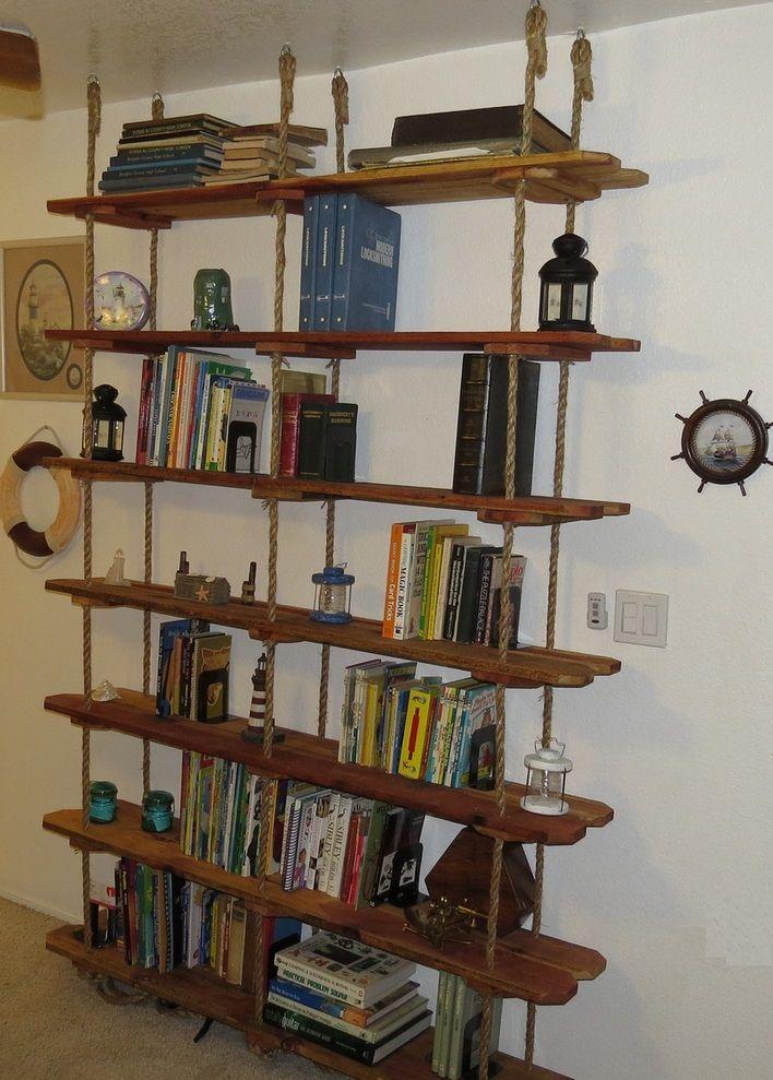 Hanging Bookshelves 1000+ ideas about hanging bookshelves pinterestissä | pallet ideas