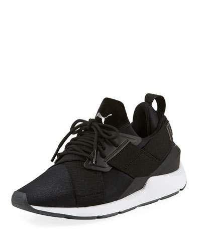 Women's Muse Satin II Sneakers BlackAsphalt | Sneakers