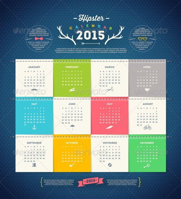 The 39 Best Calendarios Vector Images On Pinterest Calendar 2017