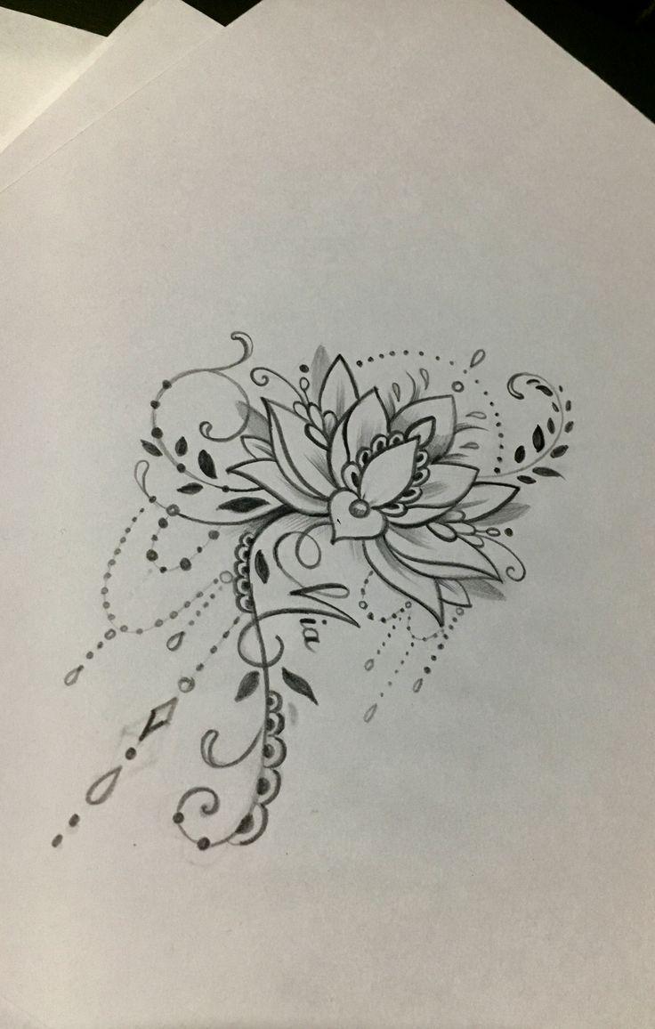 Lotus Mandala Tätowierung   – Lotusbloem tatoeages – #Lotus #Lotusbloem #Mandal… – Toni Mahoni Goa Bambina