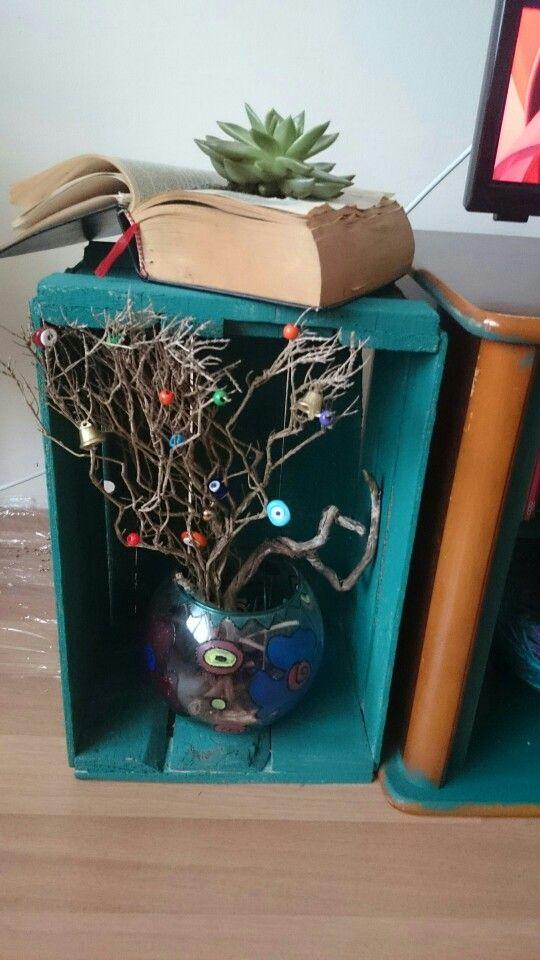 Ağaç dalı süsleme Nazarlık boncuğu