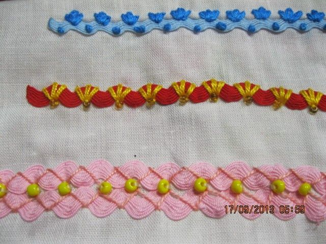 rickrack and embroidery stitches