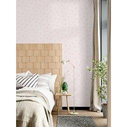 TAPET FEATHERS  ECO NATURE er en nydelig tapet i lette og luftige farger for det Skandinaviske soverommet....