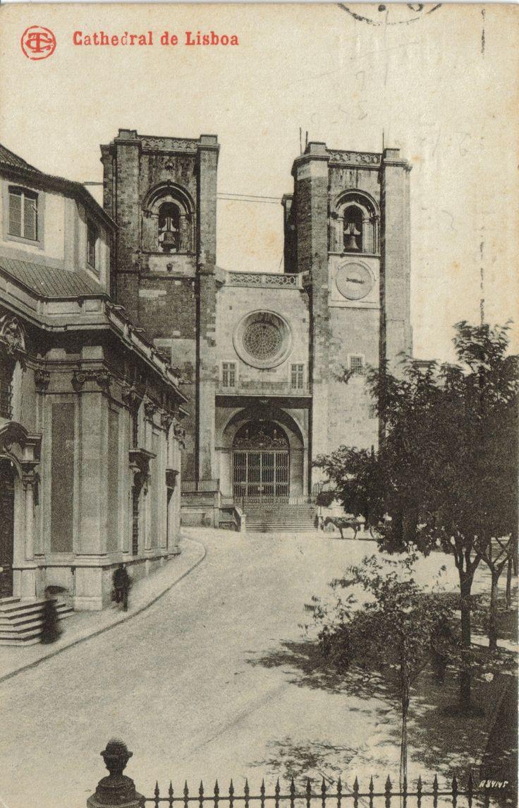 Sé catedral de Lisboa, Postal. N.º 1517, Edição Costa, Rua do Ouro, 295, Lisboa, [c. 1910].