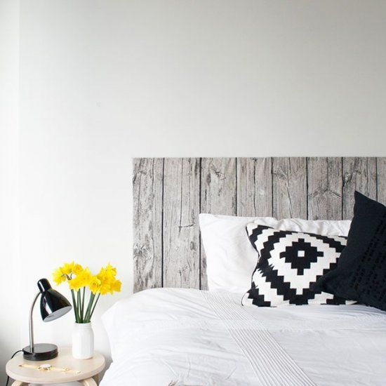 Give your bedroom a makeover with this simple bedhead made from Ikea fabric!