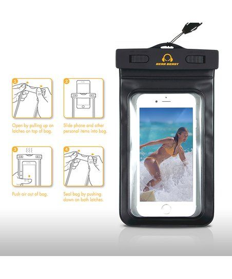 Keep your gear dry when around moisture with this waterproof phone pouch and armband which securely holds your smartphone while still giving you touchscreen access and leaves plenty of room to store other necessary items for on-the-go.
