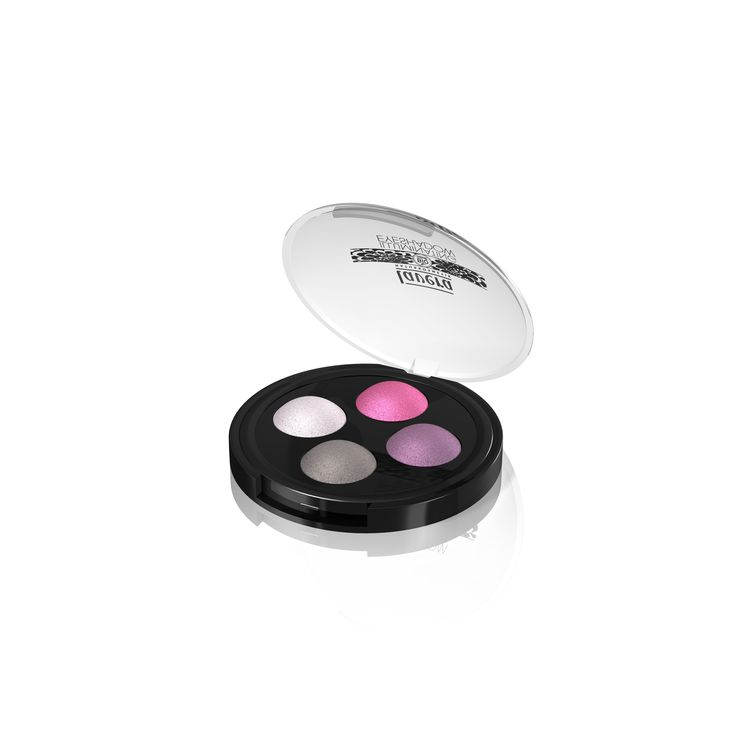 NEW Lavera Quattro Eyeshadow in Lavender Coutoure. These 4 gorgeous toned eyeshadows of fuschia pink to lavender to charcoal grey can be used wet to acheieve a deeper defined colour or can be used dry for a light application. Also available in Oriental Brown.