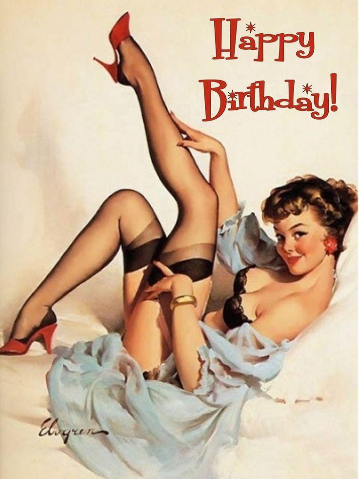 Happy Birthday pin-up girl