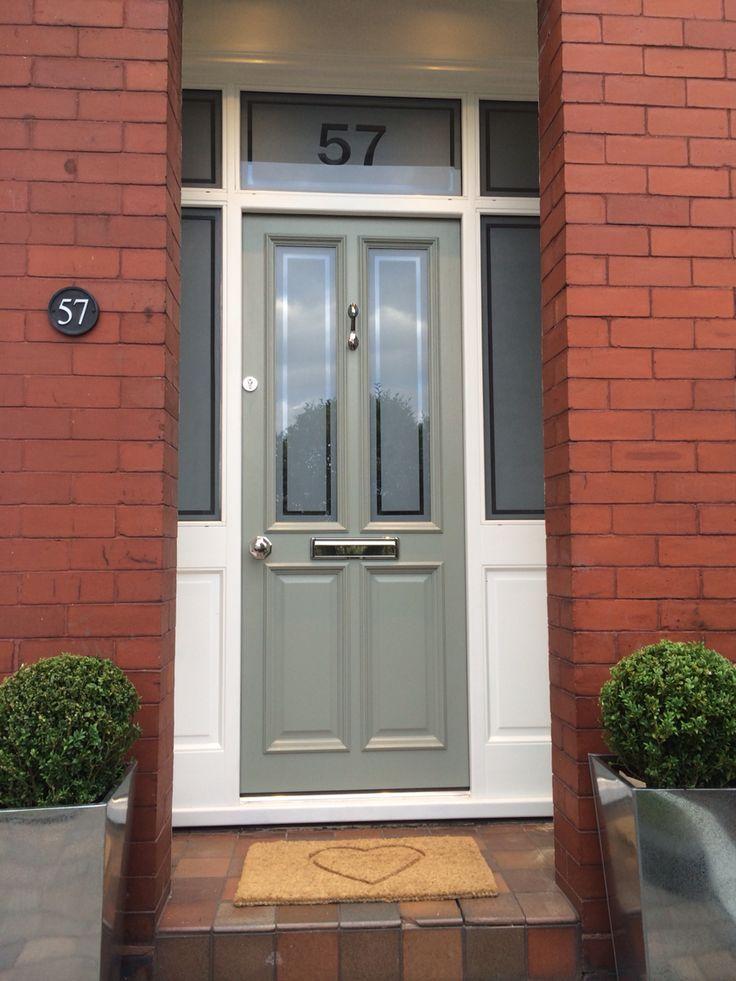 Farrow and Ball Pigeon. Victorian Terrace. Front Door