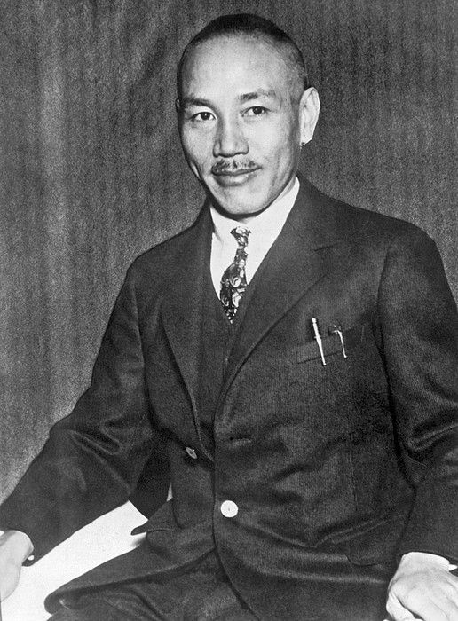 Shanghai, China 1931General Chiang Kai-Shek, President of the Nationalist Government of China, has issued a statement urging the Chinese people to remain calm in the face of Japan's invasion of Manchuria, and called upon the League of Nations Council to grant justice to China.