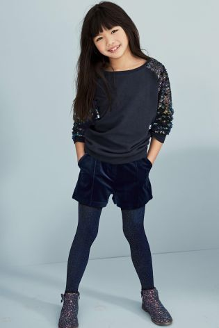 Buy Navy Sequin Arm Crew (3-16yrs) online today at Next: United States of America