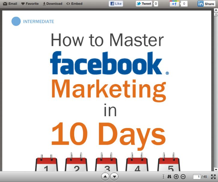 How to Master Facebook Marketing in 10 Days #slideshow