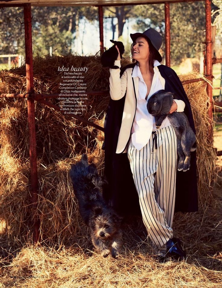 Elle Italia 2014 02 16 1 Elle Italia February 2014 |Kasia Smutniak by David Burton  [Cover+Editorial]