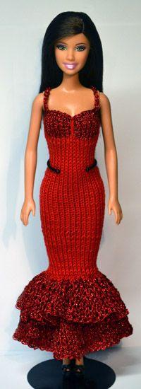 link to over 1000 knit patterns for Barbie dolls