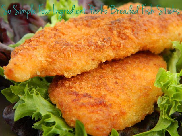 So simple four ingredient panko breaded fish sticks for Breaded fish recipe