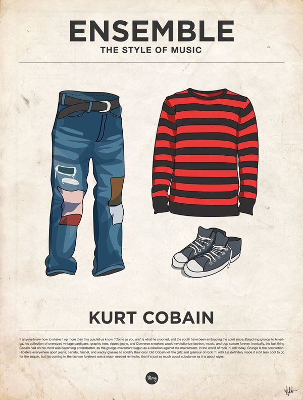 The Style of Music - Kurt Cobain #kurtcobain #grunge