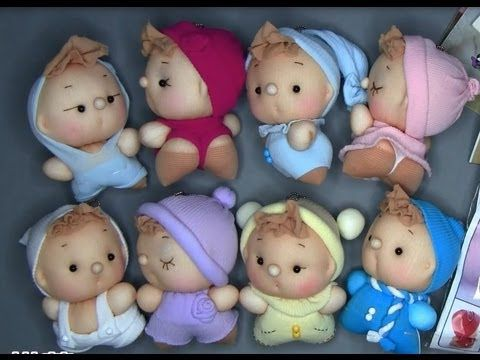 tiny sock babies made from ladies  tights / stockings Куклы из чулок - YouTube