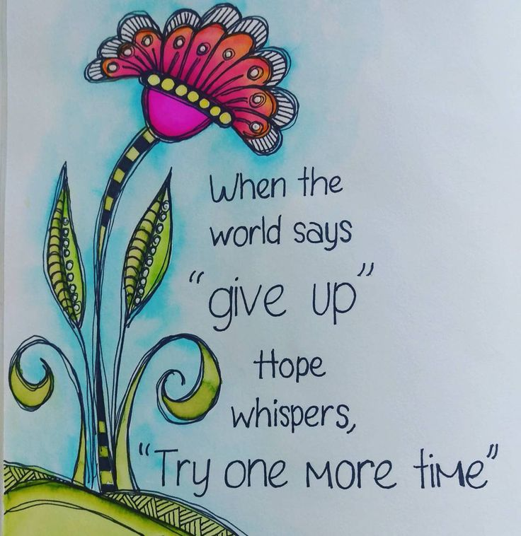 Just one more try could be all you need! #watercolorpainting #tombow #motivation #inspiration #artlicensing #debipaynedesigns