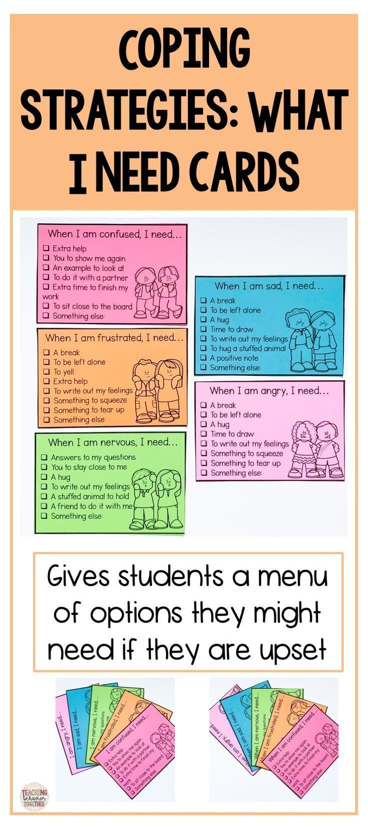 Coping Strategies For Kids Needs Communication Cards Social Emotional Learning Activities Social Emotional Learning Social Skills