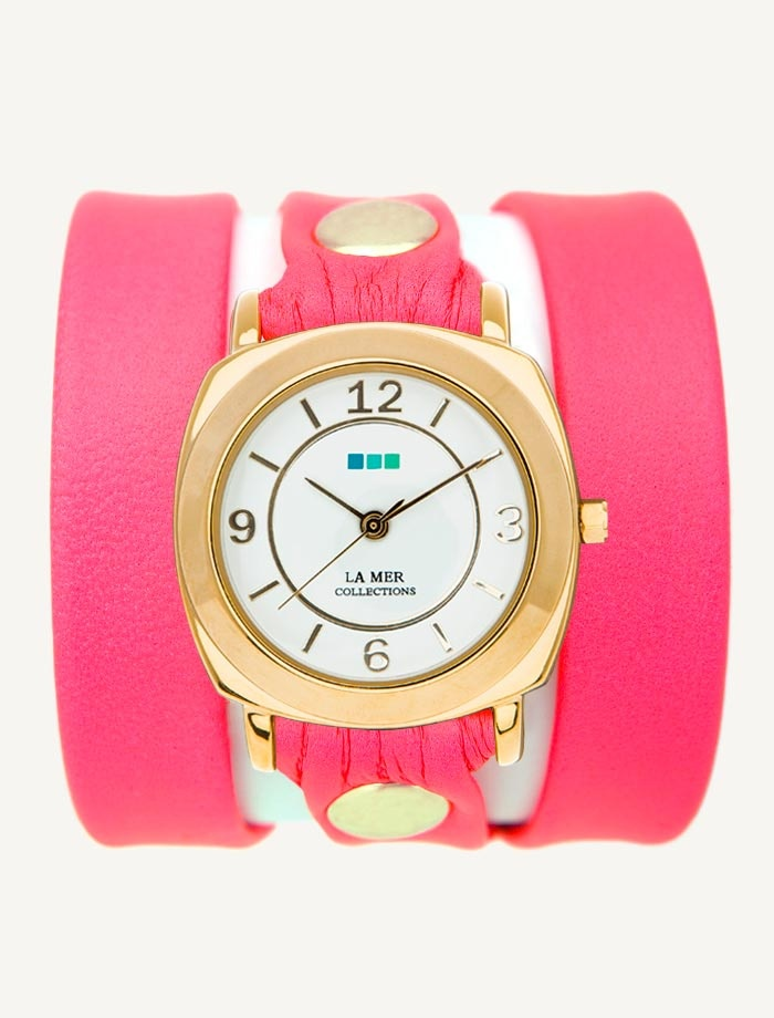 la mer watches refinery 29 exclusive neon pink gold