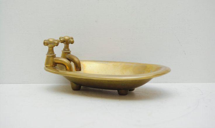 Vintage #Brass #Bathtub Dish #MidCentury #GardenTub