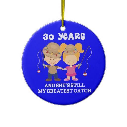 30ème Cadeau drôle d'anniversaire de mariage pour  Ornements De Noël