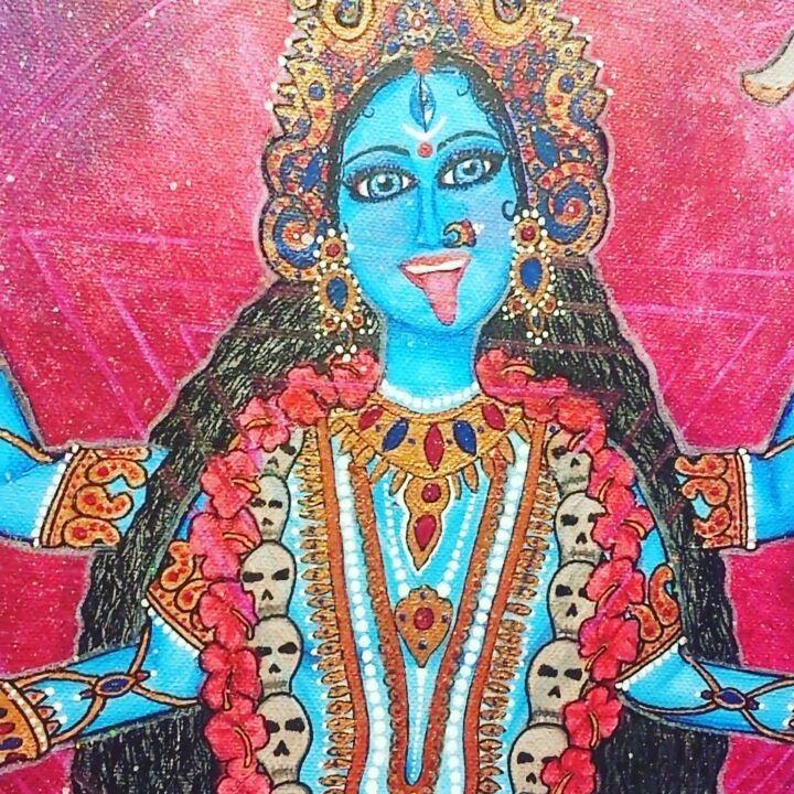 "Kamakshi Dasi - ""Om Maha Kalyai Ca Vidmahe Smasana Vasinyai Ca Dhimahi Tanno Kali Prachodayat"""