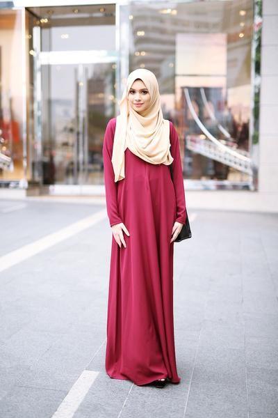 Basic Dress Carmine Red