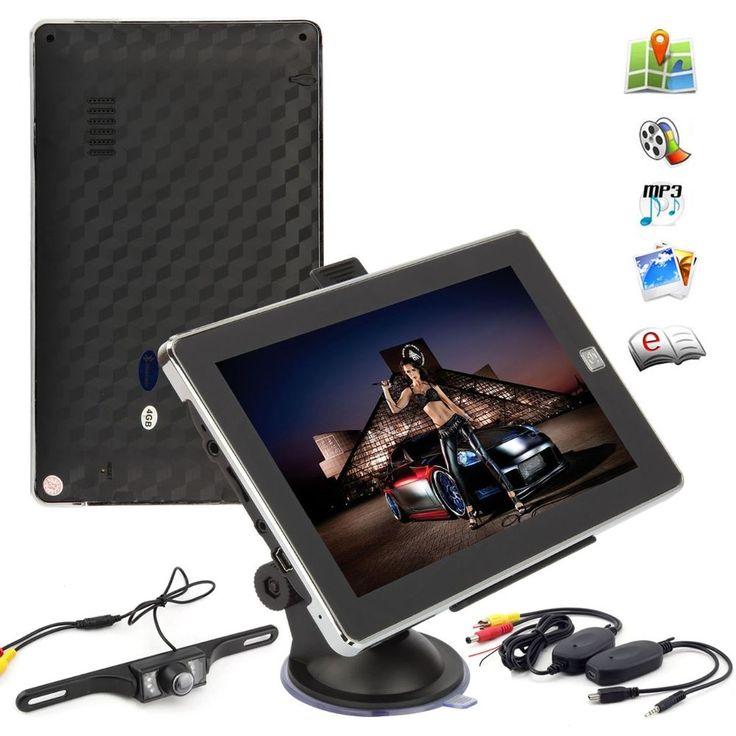 7 Inch 4GB AV/IN MP3 Bluetooth Touch Truck Navigation GPS +IR Reversing Camera