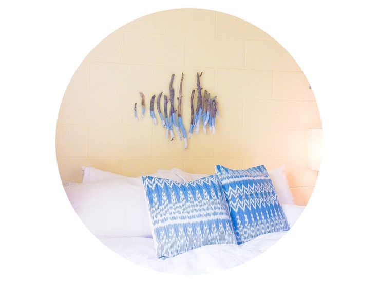 Ikat natural dye pillows @ hopeandtwine.com