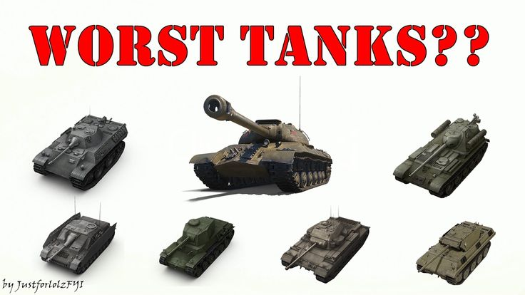World of Tanks - WORST TANKS?? [Average WIN%, tiers V-X]