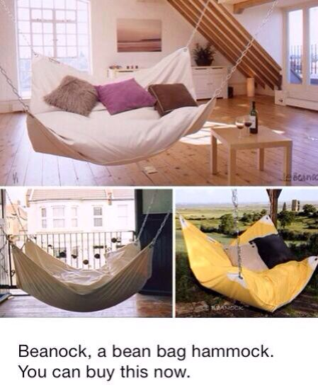 Le Beancock Beanock Combines An Ordinary Beanbag With A Hammock. It Will  Help Us Get The Soft And Squishy Comfort Of The Beanbag, While Being  Suspended In ... Pictures Gallery