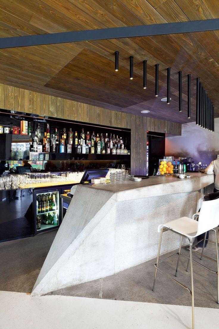 Barový pult z brúseného betónu #ASB #interior #design #concrete