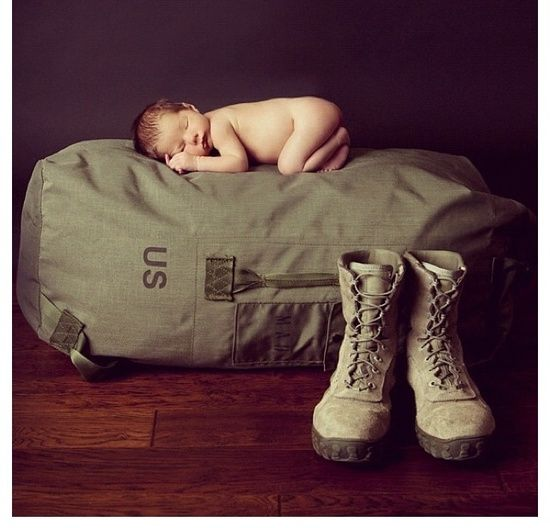 Military baby photo for hopefully a baby boy the second