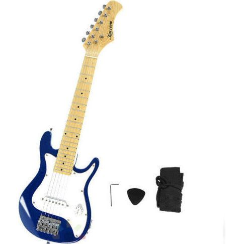 Kids Electric Guitar with Shoulder Strap in Blue | Buy Electric Guitars