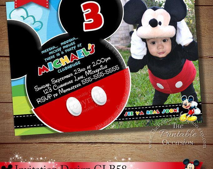 Mickey Mouse Clubhouse Invitation Mickey Birthday Invitation