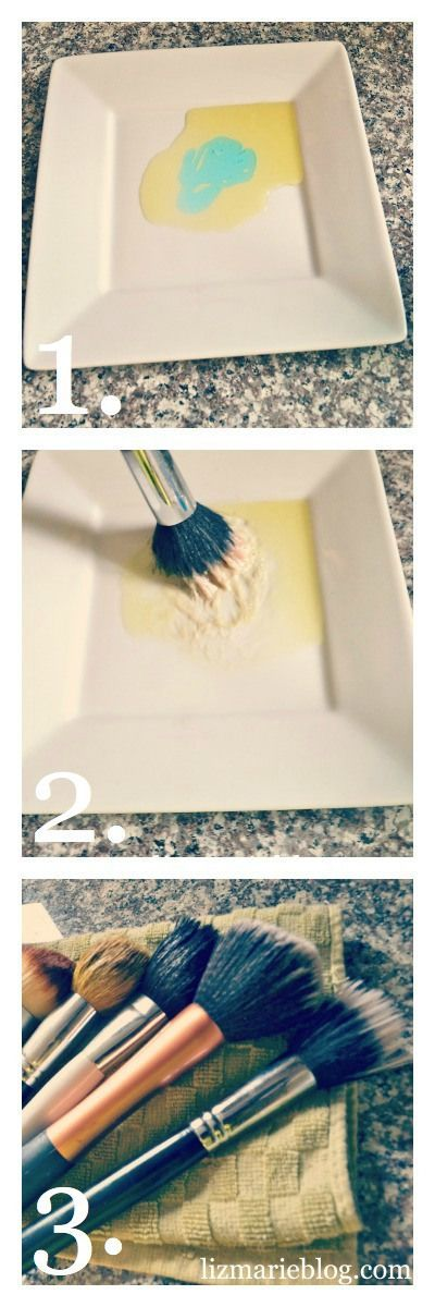 The best way to get your makeup brushes super clean! All you need is two ingredients: olive oil & dish soap.