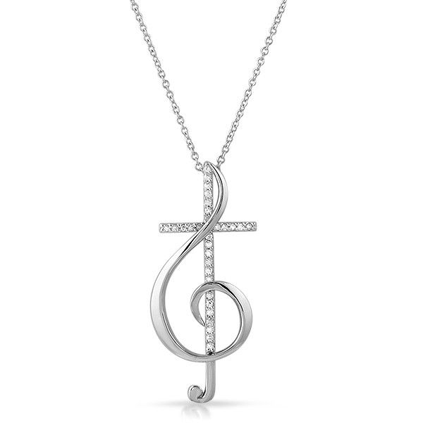This beautiful pendant is highly intricate and an eye-catching size. It features a cross in the center with pave' hand set stones and the rest is polished to perfection. Perfect for the Christian musi