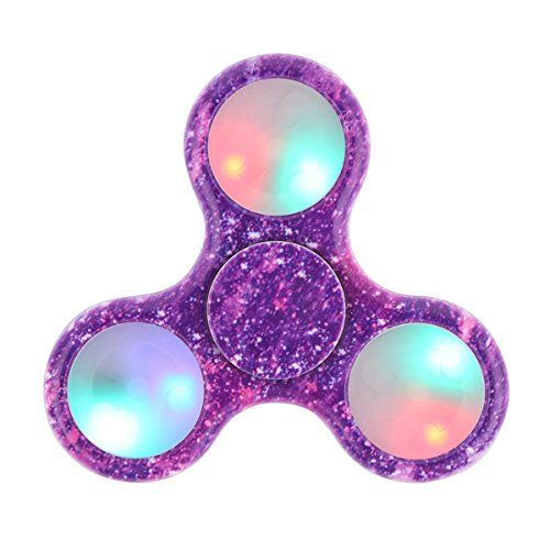 Tepoinn LED Fidget Spinner Finger Spinner EDC Hand Spinner with Ultra Fast Ceramic Bearing Anxiety Relief Finger Relief Toys for Kids & Adults (Starry-sky)
