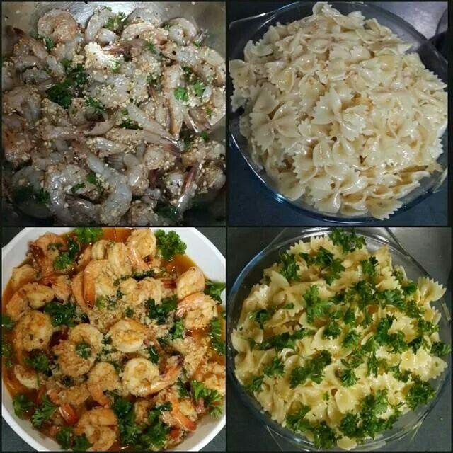 #garlicshrimp and #pasta #yum