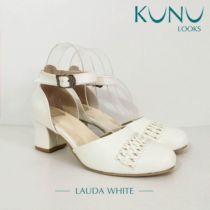 Lauda White Ankle strap Heels Kunu Looks