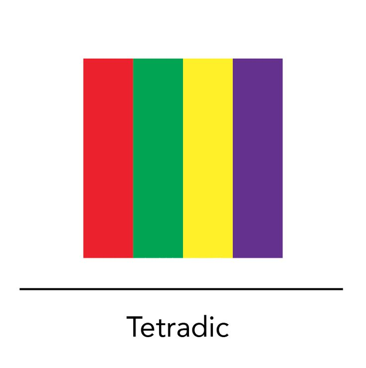 2 Tetradic Color Scheme A Pair Of Compliments That Form Rectangle On